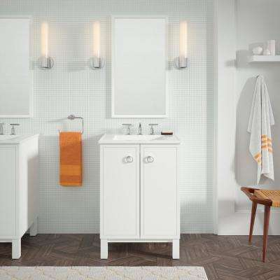 Jacquard 24 in. Vanity Cabinet Only in Linen White