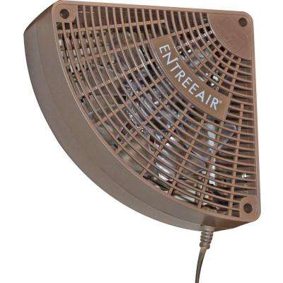 EntreeAir 5 in. Single Speed Door Frame Fan in Brown