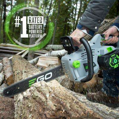 14 in. 56V Lithium-Ion Cordless Electric Chainsaw, 2.5 Ah Battery and Charger Included