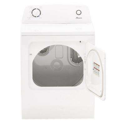 6.5 cu. ft. 240-Volt White Electric Vented Dryer with Wrinkle Prevent Option