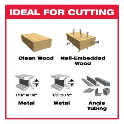 Nail-Embedded Wood and Metal Cutting Bi-Metal Reciprocating Saw Blade Set (6-Piece)