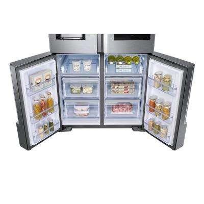 22 cu. ft. Family Hub 4-Door French Door Smart Refrigerator in Stainless Steel with AKG Speaker, Counter Depth