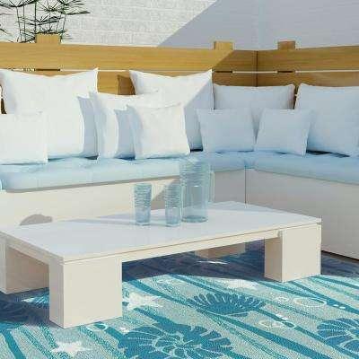 La Mer Aqua 3 ft. x 5 ft. Indoor/Outdoor Area Rug