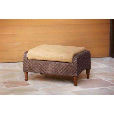 Marquis Patio Ottoman with Toffee Cushion -- STOCK