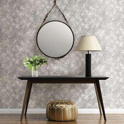 Silver Mercury Glass Distressed Metallic Wallpaper