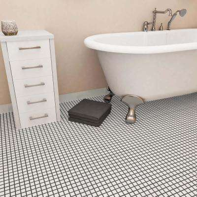 Boreal Square White 11-3/4 in. x 11-3/4 in. x 6 mm Porcelain Mosaic Tile