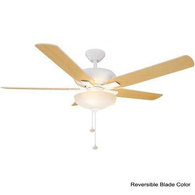 Holly Springs 52 in. LED Indoor Matte White Ceiling Fan with Light Kit