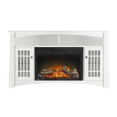 Adele 27 in. x 18.63 in Firebox with 56 in. x 32 in. Mantel