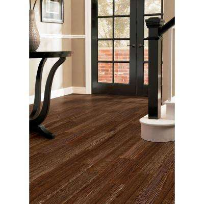 Wire Brushed Heritage Oak 3/8 in. T x 6-1/2 in. W x Varying Length Click Lock Hardwood Flooring(17.06 sq. ft. / case)