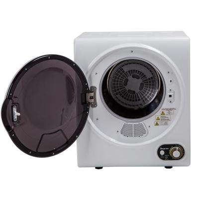 Compact 1.5 cu. ft. Electric Dryer in White