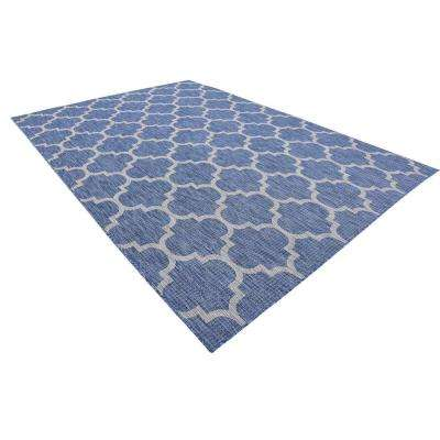 Outdoor Trellis Blue 8' 0 x 11' 4 Area Rug