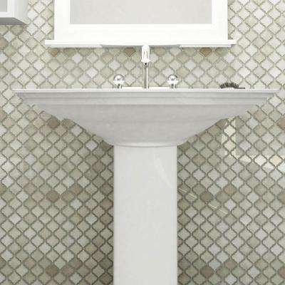 Hudson Tangier Dove Grey 12-3/8 in. x 12-1/2 in. x 5 mm Porcelain Mosaic Tile