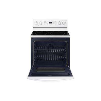 30 in. 5.9 cu. ft. Single Oven Electric Range with Self-Cleaning and Convection Oven in White