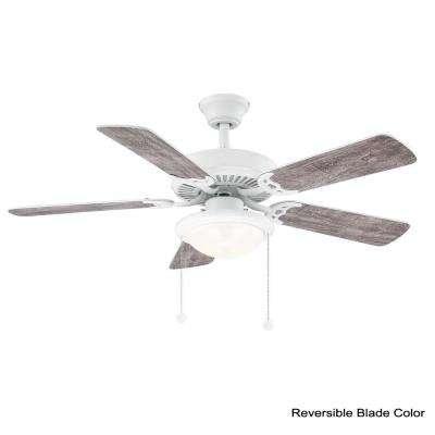 Trice 44 in. LED Matte White Ceiling Fan