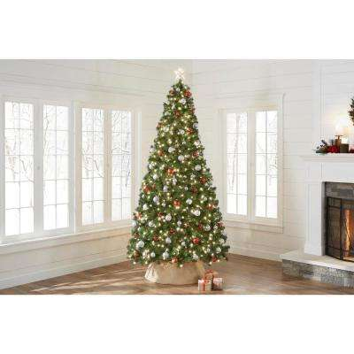 9 ft. Noble Fir Quick-Set Artificial Christmas Tree with 800 Clear Lights