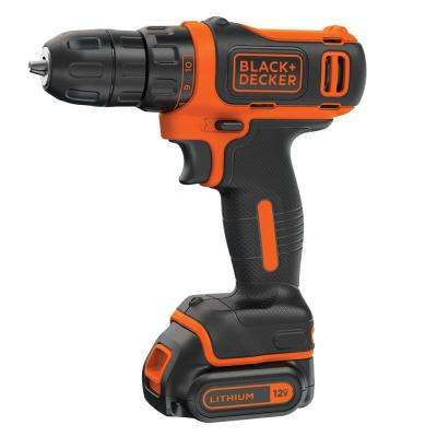 12-Volt MAX Lithium-Ion Cordless 3/8 in. Drill with Battery 1.5Ah and Charger