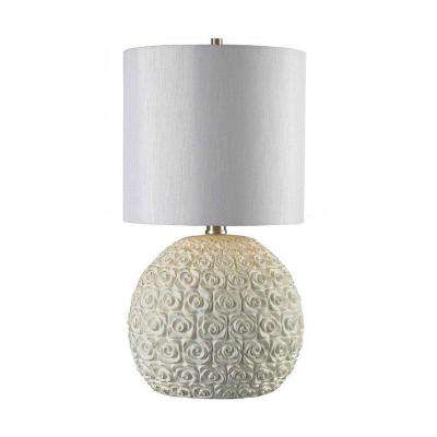 Tavelle 10 in. Weathered White Table Lamp