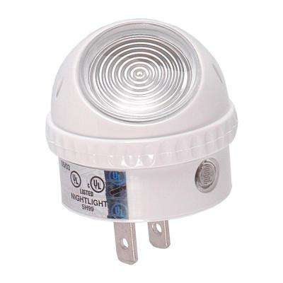 Light Sensing Incandescent Night Light with 360 Degree Rotation