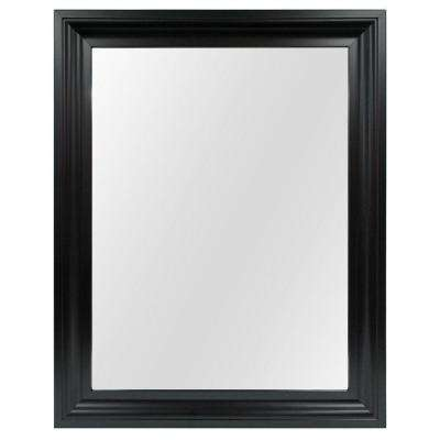 22.35 in. W x 28.35 in. L Framed Fog Free Wall Mirror in Black