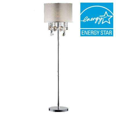 60 in. Drape Crystal Floor Lamp