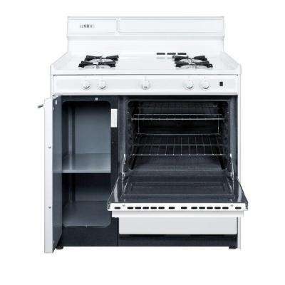 36 in. 2.9 cu. ft. Gas Range in White