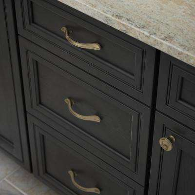 Taryn 3 or 3-3/4 in. (76 or 96mm) Center-to-Center Champagne Bronze Dual Mount Drawer Pull