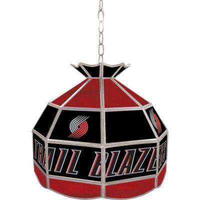 Portland Trail Blazers NBA 16 in. Nickel Hanging Tiffany Style Lamp