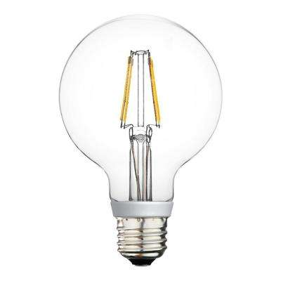 40W Equivalent Warm White G25 Dimmable LED Light Bulb