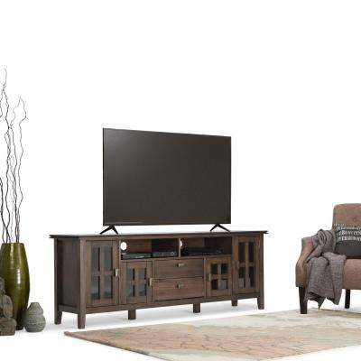 Artisan 72 in. W Media TV Stand in Natural Aged Brown