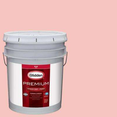 5 gal. #HDGR55 Light Coral Sunset Flat Interior Paint with Primer