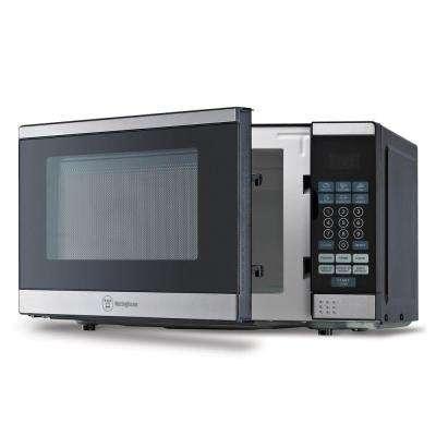 0.7 cu. ft. Countertop Microwave in Black/Stainless Steel