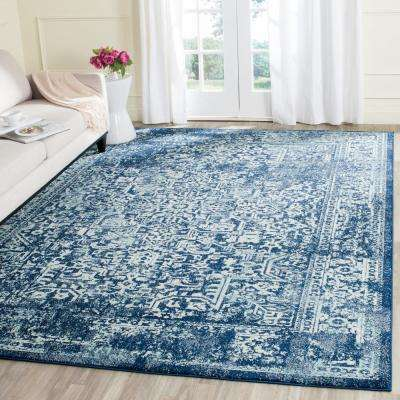 Evoke Navy/Ivory 9 ft. x 12 ft. Area Rug