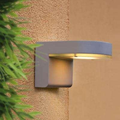 Jalon 2-Light Silver Integrated LED Wall Light