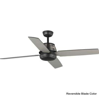 Shaffer 56 in. 4-Blade Black Ceiling Fan