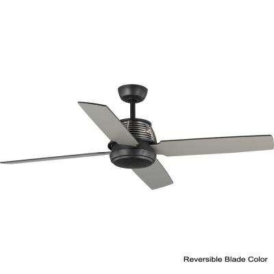Shaffer 56 in. 4-Blade Black Ceiling Fan