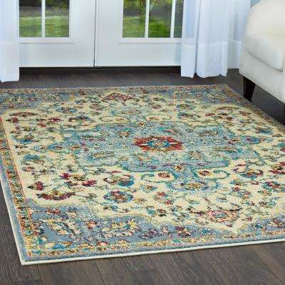 Serena Ivory/Gray 3 ft. 6 in. x 5 ft. 3 in. Indoor Area Rug