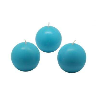 2 in. Turquoise Ball Candles (12-Box)