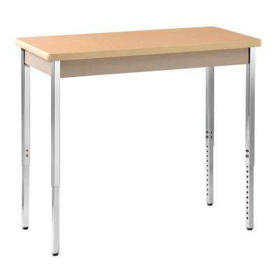 36 in. H x 40 in. W x 20 in. D Heavy Duty Steel Meeting/Activity Table in Putty/Maple