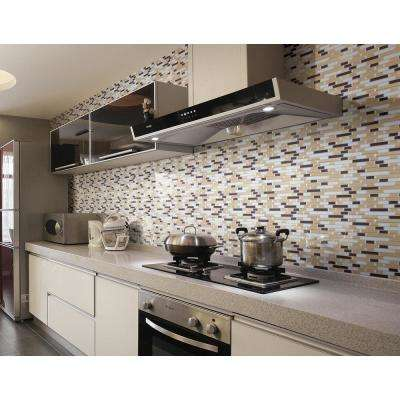 12 in. x 12 in. Multi-color Self-Adhesive Decorative Wall Tile Backsplash for Kitchen (10-Pack)