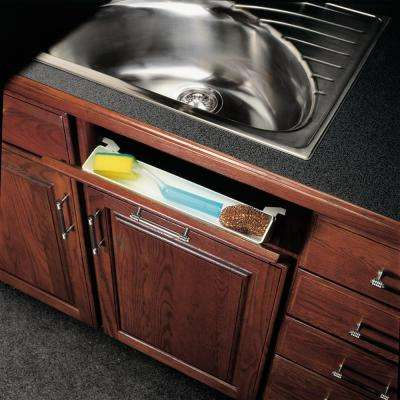 Knape & Vogt 3 inch x 12.38 inch x 2.75 inch Polymer Sink Front Trays with Stops Cabinet Organizer