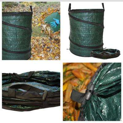 30 Gal. Collapsible Reusable Pop Up Lawn Garden Leaf Bag Trash Can (3-Pack)