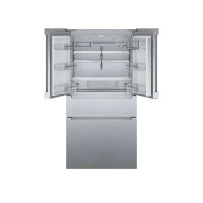 800 Series 36 in. 21 cu. ft. French 4 Door Refrigerator in Stainless Steel with Dual Compressor, Counter-Depth