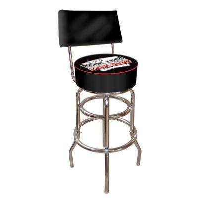 Four Aces 30 in. Chrome Swivel Cushioned Bar Stool