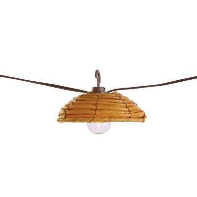 G40 New Rattan 8-Light Brown Cafe Light (8-Count)