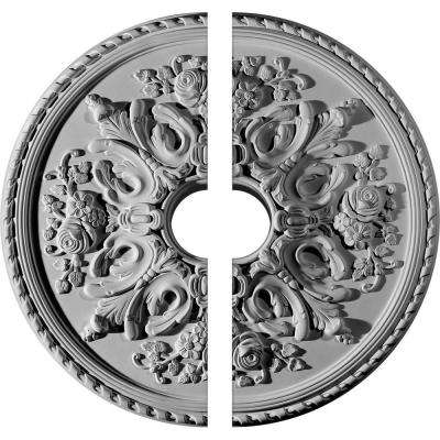 32-5/8 in. O.D. x 6 in. I.D. x 2 in. P Bradford Ceiling Medallion (2-Piece)