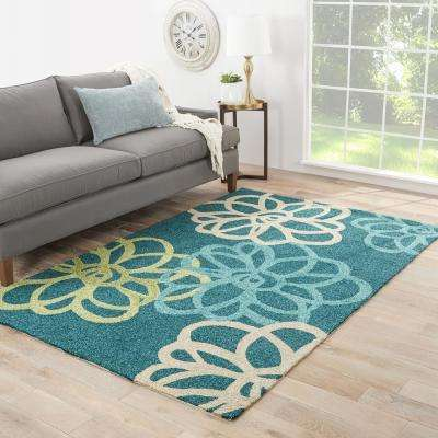 Foliage 5 ft. x 8 ft. Floral Indoor/Outdoor Area Rug