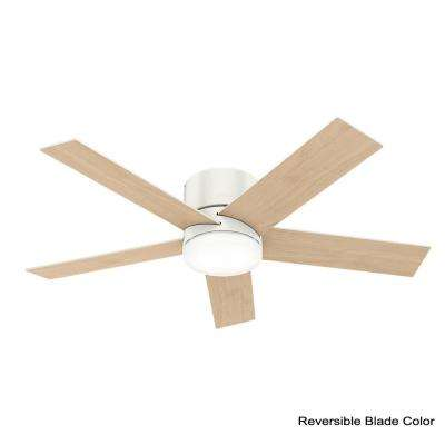 Vicinity 52 in. LED Indoor Fresh White Ceiling Fan with Integrated Light Kit and Handheld Remote