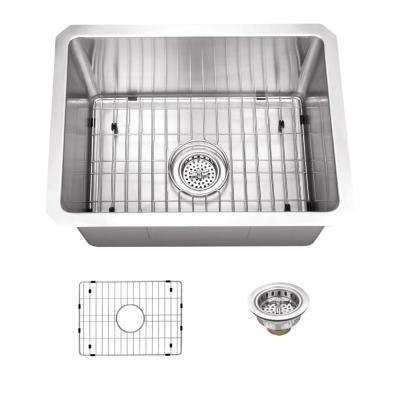Undermount 15 in. 16 Gauge Stainless Steel Bar Sink in Brushed Stainless