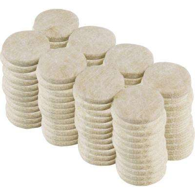 1 in. Beige Heavy-Duty Self-Adhesive Felt Pads (96-Pack)