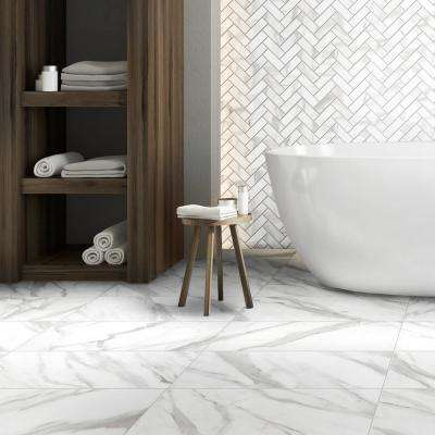 Avante Bianco Marble 12 in. x 24 in. Porcelain Floor and Wall Tile (13.3 sq. ft./case)